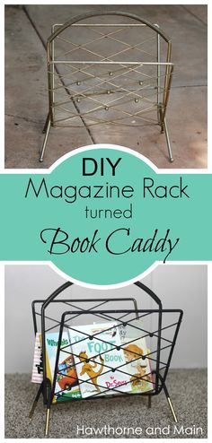 Turn trash into treasure.  This DIY book caddy has saved our book mess.  We now have a stylish way to store our books, plus our favorites are always just right there!