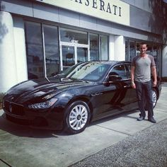 Matt and his new #Maserati #Ghibli! From Dennis and the entire Maserati of Tampa team - thank you! and welcome to the #ReevesTampaFamily ! #MaseratiofTampa #tampa #fl
