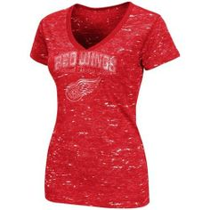 Detroit Red Wings Women's Red Official Contender Fashion V-Neck T-Shirt by Majestic. $29.95