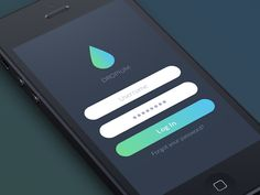 Dropium iOS7 Login Screen User Interface Design #UI #iOS7