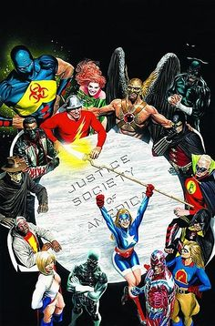 #Justice #League #Of #America. (Justice Society of America) By: Alex Ross. (Classic Old School Award of ÅWESOMENESS!!!)