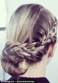 The Instagram feed also offers up intricate plaited updos that are perfect for brides and wedding guests