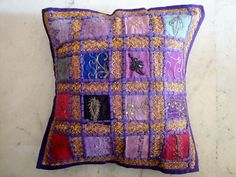 Ethnic Indian Handcrafted Embroidery Cushion Cover