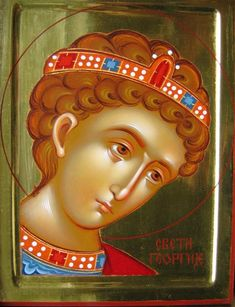 Saint George the Trophy-Bearer Byzantine Icons, Byzantine Art, Religious Paintings, Religious Art, Good Shepard, Paint Icon, Saint George, Orthodox Icons, Portrait Art