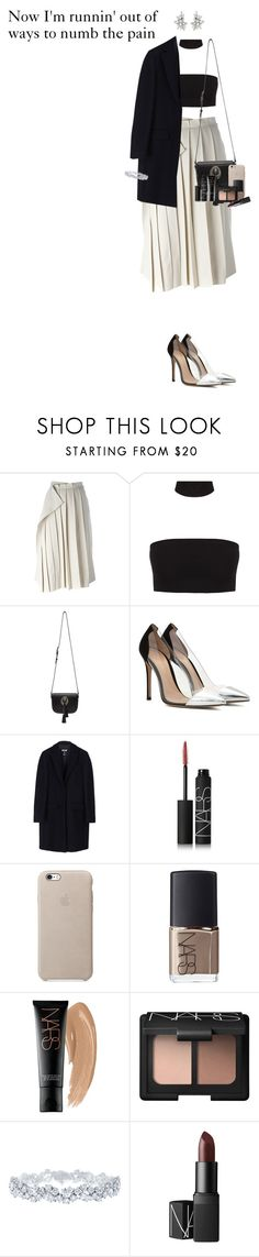 """Now I'm runnin' out of ways to numb the pain"" by missrouroud ❤ liked on Polyvore featuring Yohji Yamamoto, Yves Saint Laurent, Gianvito Rossi, MSGM, NARS Cosmetics and Harry Winston"