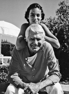 Cary Grant with daughter, Jennifer Grant.