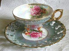 Teacup and Saucer. I have this cup and saucer! Vintage Cups, Vintage China, Cup And Saucer Set, Tea Cup Saucer, Café Chocolate, Teapots And Cups, China Tea Cups, My Cup Of Tea, Tea Service