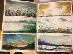 Sketchbook pages, some quick landscape drawings. #WilliamHannahUK #sketchbook #art #drawing #painting #watercolour #landscape #art #artjournal #journal www.williamhannah.com