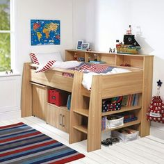 Cabin bed with steps
