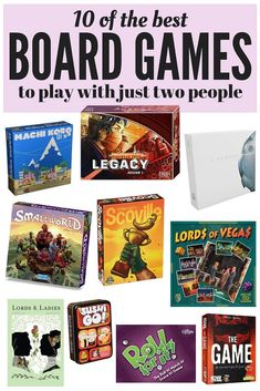A list of ten unique, engaging, and incredibly fun games that can be played with. A list of ten unique, engaging, and incredibly fun games that can be played with just two people! Perfect for stay-at-home date nights! Games For Two People, Board Games For Two, Board Games For Couples, Games For Teens, Couple Games, Family Games, Couple Fun, Kids Board, Activity Games