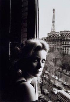 Catherine Deneuve par Helmut Newton (1976).