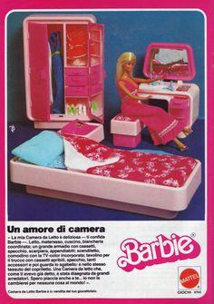 Barbie Dream Furniture in the Seventies! Italian print ad.