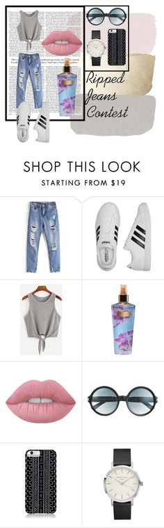 """""""Ripped Jeans Contest"""" by kitkatsullie ❤ liked on Polyvore featuring adidas, Victoria's Secret, Lime Crime, Tom Ford, Savannah Hayes and country"""