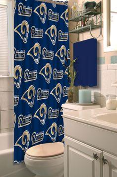 St. Louis Rams Shower Curtain at SportsFansPlus.com