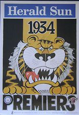 Weg Poster Ltd Edition Richmond Premiers 1934 Artist WEG