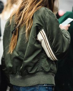 Olive green bomber jacket - LA COOL & CHIC