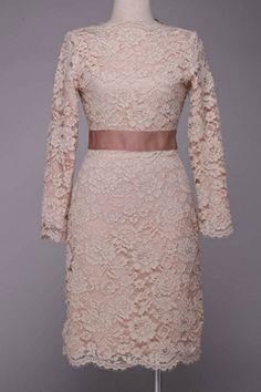 Elegant 3/4 Sleeves Lace Dress OASAP.com