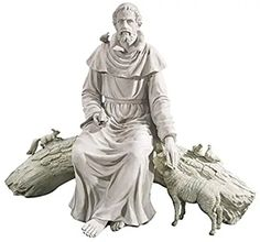 Our incredible garden focal point will leave your guests in awe! St Francis Statue, Saint Francis, Religious Icons, Religious Art, Francis Of Assisi Prayer, St Francisco, Patron Saint Of Animals, Sculpture, Garden Statues