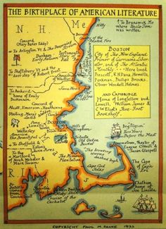 literary travel - New England