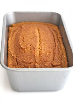 Healthy Flourless Pumpkin Bread – just 6 ingredients is all it takes to make thi… Healthy Flourless Pumpkin Bread – just 6 ingredients is all it takes to make this healthy, hearty loaf that's naturally sweetened with maple syrup. Healthy Pumpkin Bread, Pumpkin Loaf, Gluten Free Pumpkin, Pumpkin Dessert, Gluten Free Baking, Gluten Free Desserts, Pumpkin Recipes, Fall Recipes, Gluten Free Recipes