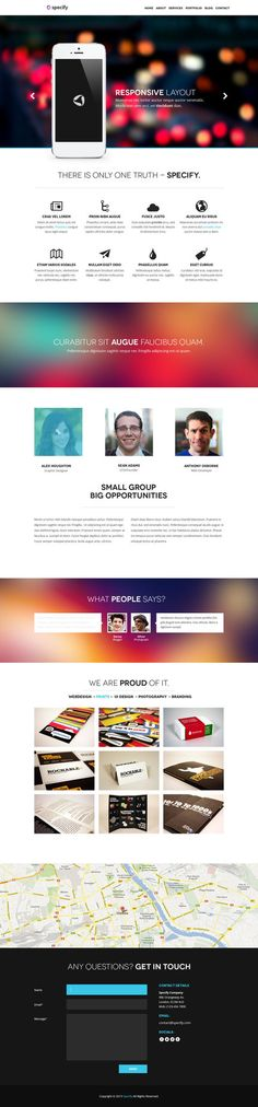 Specify - One Page PSD Template by ~DarkStaLkeRR on deviantART