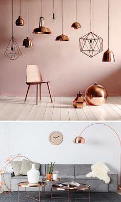 Scandinavisch design is op zijn mooist wanneer aangevuld met details van koper. Dat contrast.. Dat vinden wij gaaf!