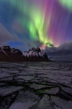 ~~Solar Flair • Aurora Borealis, Iceland • by Ron Coscorrosa~~