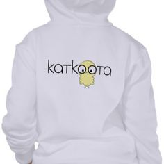 Katkoota: An Arabic word of endearment for a cute girl - a little female baby chick. (Middle Eastern Arab Designs - Children's Clothing - Kids Hoodie Sweatshirt)