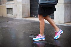 adenorah- Blog mode Paris  Samsoe Samsoe coat  - Air max Nike from sarenza.com - asos sunglasses - samsoe samsoe skirt - choies blouse - mulberry bag