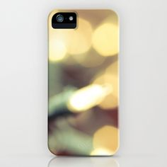 Glow iPhone & iPod Case by Olivia Joy StClaire - $35.00, holiday lights, winter phone case, holiday phone case, winter accessory, tech, society6, white, bokeh, art, photography