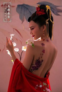 Chinese Body Painting Posted by Sifu Derek Frearson - # Chinese Body . Geisha Kunst, Geisha Art, Thai Traditional Dress, Traditional Outfits, Art Asiatique, Art Japonais, Fantasy Photography, Girl Photography, Chinese Clothing