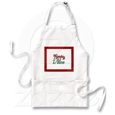 APRON NAUGHTY OR NICE RED AND GREEN CHRISTMAS from Zazzle.com  $19.95