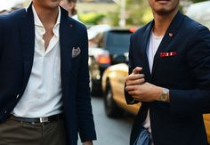 can never go wrong with a navy blazer / jacket. / men's style