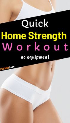 Quick home strength workout. No equipment needed. Strength Training, Resistance training, lean muscle gain, home workout, home workout routine, quick workout, no equipment fat burning workout, fat loss, weightloss, weight loss Home Strength Training, Strength Workout, Quick Workout At Home, Quick Workouts, Cardio Workouts, Lose Weight In A Week, How To Lose Weight Fast, Home Exercise Routines, Fast Weight Loss Tips