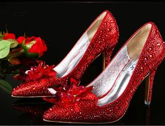 Crystal Shoes in red