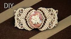 Macramé Bracelet with Stone - Tutorial #Macramé #Bracelet #Tutorial #Gemtone