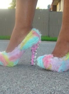 "#ustrendypineneedle  ""Cotton Candy"",  Shoes, unique chic custom fashion style, Chic"