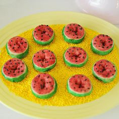 Watermelon Mini Doughnuts