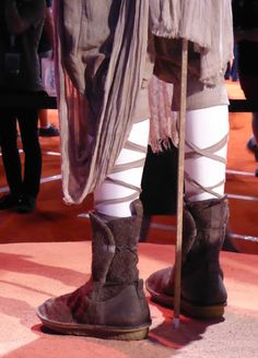 Star Wars: The Force Awakens Rey wool and leather boots