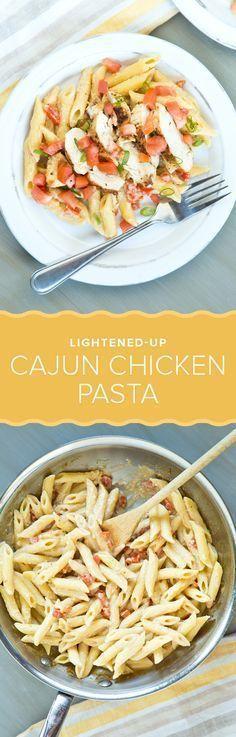 Healthier Cajun Chicken Pasta Healthy Recipes on a Budget