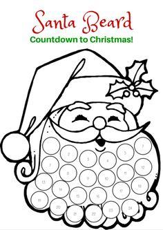 Countdown to Christmas with the Santa Beard FREE Printable