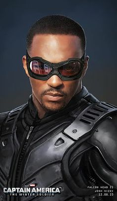 "Concept artwork by Josh Nizzi for Falcon/Sam Wilson's piloting goggles and shoulder harness from ""Captain America: The Winter Soldier"" (2014)."