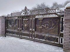 Modern Main Gate Designs, Iron Main Gate Design, Wrought Iron Gate Designs, Grill Gate Design, House Main Gates Design, Steel Gate Design, Front Gate Design, Door Gate Design, Wrought Iron Doors
