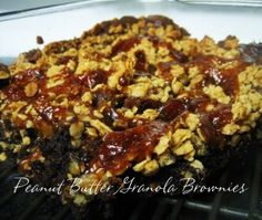 Peanut Butter Granola Brownies-Long Term Food Storage Recipes