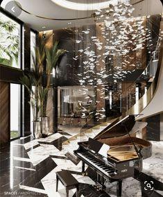 Léela te va a gustar ❤️ #detodo # De Todo # amreading # books # wattpad Modern Mansion Interior, Luxury Homes Interior, Home Interior Design, Foyer Design, Staircase Design, Marble Staircase, Hallway Designs, Best Modern House Design, Villa