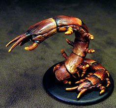 Centipede from Mice and Mystics - have been wondering how to paint this guy. Now I know!