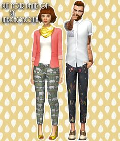 Trouser recolors at Unbichobolita via Sims 4 Updates Check more at http://sims4updates.net/clothing/trouser-recolors-at-unbichobolita/