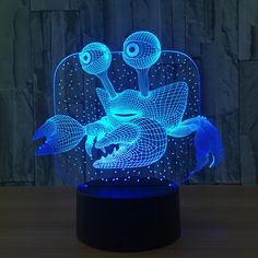 #crab #3d Illusion Lamp #xstron