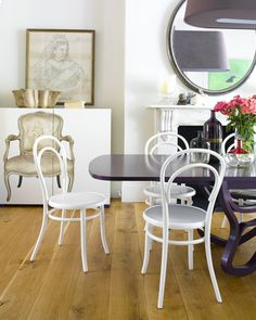 thonet chairs in white
