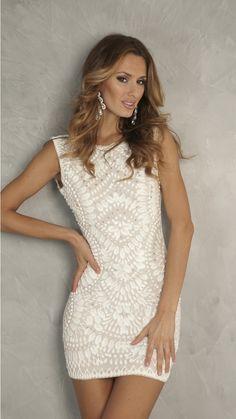 LIA DRESS IN WHITE - SHORT DRESSES